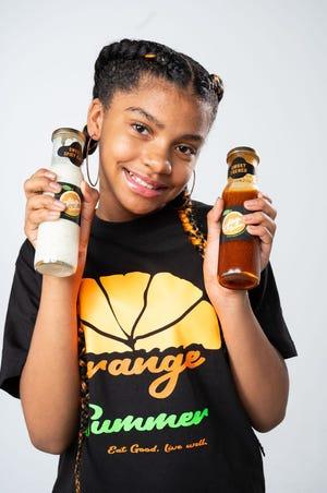Taniya Purifoy, 10, of Milwaukee runs Orange Summer, a salad dressing business.
