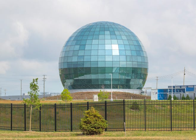 The High-Performance Computing Data Center(HPCDC) Globe at the Foxconn complex in Mount Pleasant on Wednesday, June 30, 2021. -  Photo by Mike De Sisti / Milwaukee Journal Sentinel via USA TODAY NETWORK