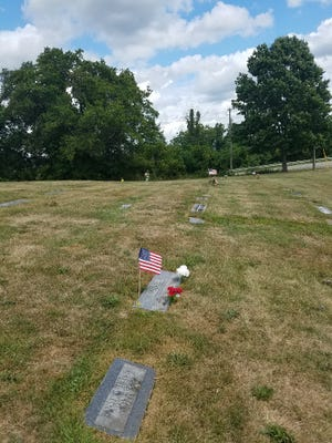 The Fugate family graves at Belmont County Memorial Park near St. Clairsville, Ohio.