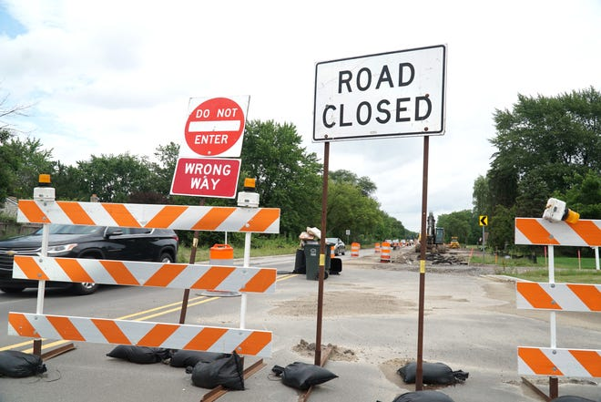 Cherry Hill Road traffic eastbound, past Lilley Road is closed to cars this summer as major roadwork is complete in the area.