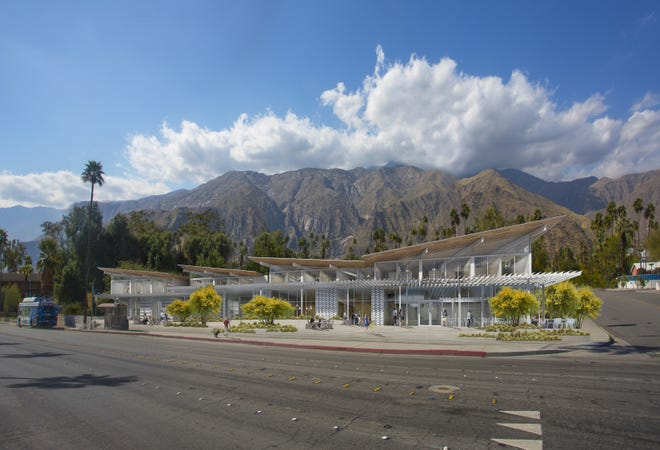 An artist's rendering of the Aloe Palm Canyon affordable housing project.