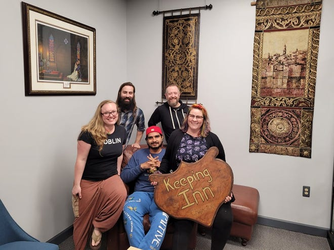 """The group behind the Dungeons and Dragons show """"Keeping Inn Character"""" who play at Border Keep Games in downtown Port Huron Saturday nights."""