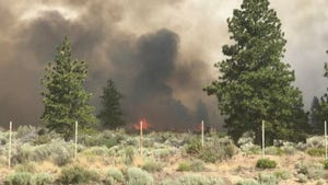 Part of the Lava Fire burns in Siskiyou County on Monday, June 28, 2021.