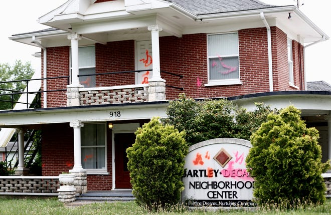 The Bartley-Decatur Neighborhood Center, a gathering place for many diverse groups in a historic part of Springfield, was vandalized late Tuesday or early Wednesday.