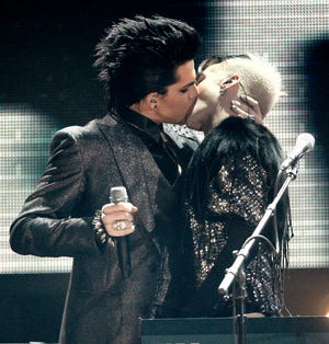 """Adam Lambert said there was a """"double standard"""" during her kiss onstage at the 2009 American Music Awards."""