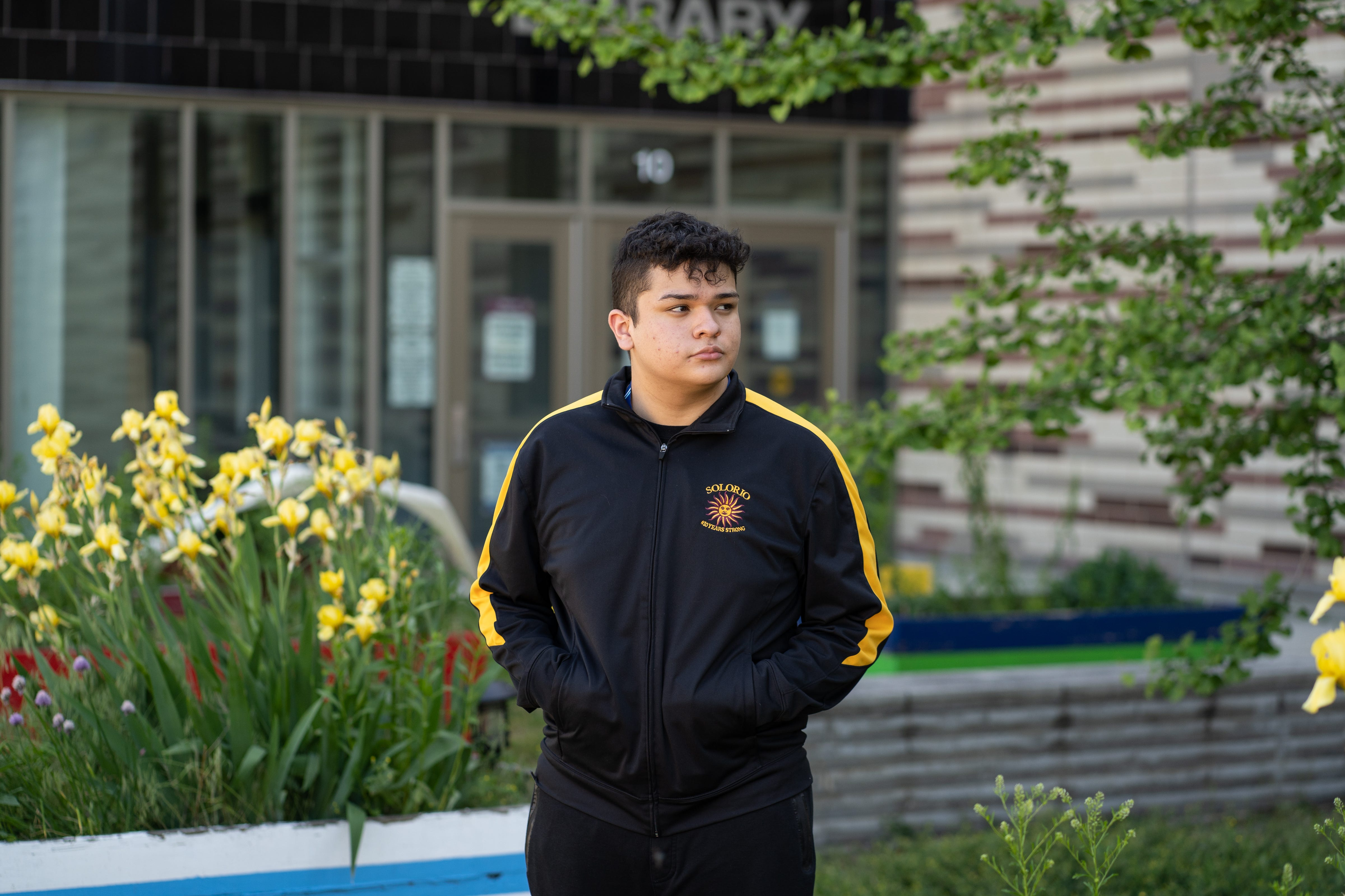 Leonel Gonzalez, a student at Solorio Academy High School, hopes to be the first in his family to go to college.