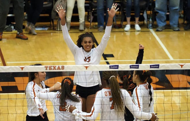 Texas outside hitter Logan Eggleston earned All-American honors last season after leading the Longhorns to the NCAA championship match. She also was named the Big 12's player of the year. The native of Tennessee will play her final season at Texas this fall.