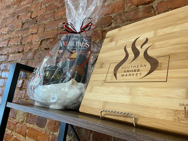 Cutting boards and gift baskets are available at Southern Smoke Market in downtown Harlem.