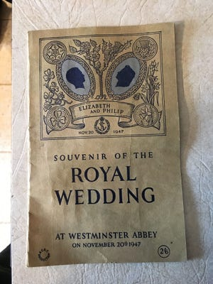 This wedding brochure was widely distributed and included photos of the royal couple.