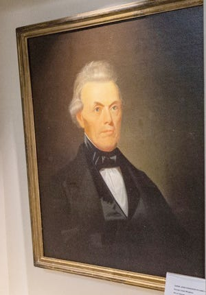 The newest piece of art at the Ashby-Hodge Gallery of American Art on the campus of Central Methodist University. The painting is a portrait of a historic Missouri supreme court judge by George Caleb Bingham. It is on display along with the current exhibit until July 22.