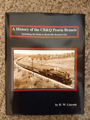 """A thorough history of railroading in Fulton County makes up 68 pages of a new 296-page hardbound book titled """"A History of the CB&Q Peoria Branch"""". It was written by Burlington Northern Sante Fe Railroad retiree Ralph W. """"Bud"""" Linroth,  Galesburg."""