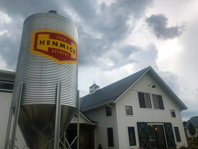 The entrance to Henmick Farm & Brewery's taproom at 4380 N. Old State Road near Delaware.