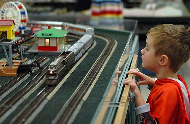 Children are fascinated by the model train displays, the event promoter says.
