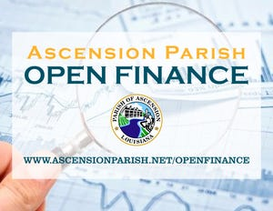 Ascension Parish government recently unveiled its Open Finance program.
