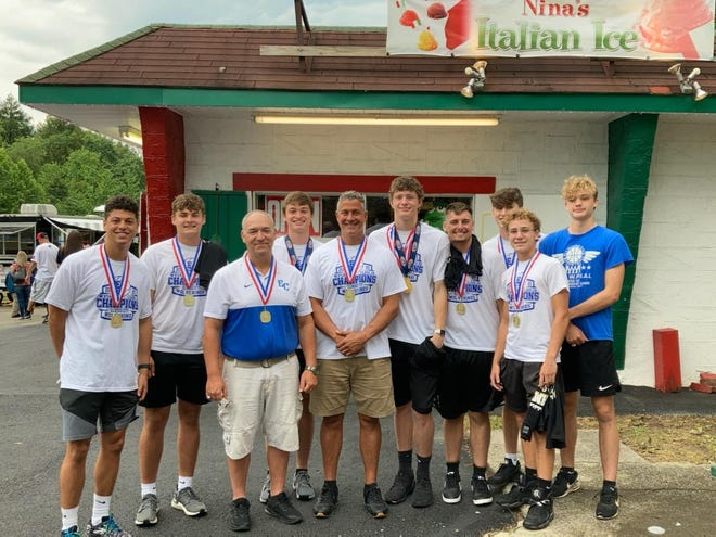 The Ellwood City Wolverines boys basketball team, which won the 2020-21 WPIAL Class 3A Championship, attended Lawrence County's 'Celebration of Champions' event Thursday at Cascade Park in New Castle. The event, which was organized by all school superintendents in the county, allowed all county sports teams that won WPIAL and PIAA championships this year to meet and interact.