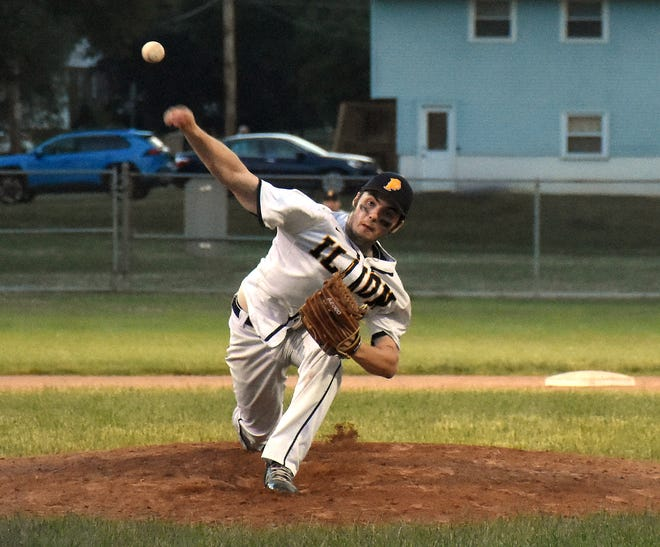 Ilion Post pitcher Adam Rotondi delivers a pitch against Rome's Smith Post Tuesday in Ilion.