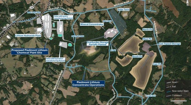 Belmont-based Piedmont Lithium plans to build lithium mining and production campus in rural northwest Gaston County. The company plans to present the project to Gaston County commissioners for the first time in July 2021 following years of exploration in Gaston County.