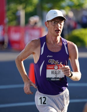 Bricyn Healey,  2016 Galesburg High School grad, took part in the U.S Track and Field Olympic Trials for the 20KRace Walk on Saturday, June 26, 2021 in downtown Springfield, Oregon, and Healey ended up in seventh place in1:38:18.