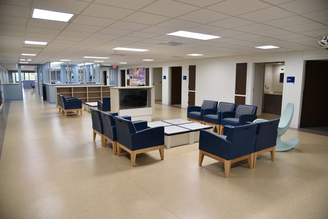 This commons area in the third-floor Behavioral Health Unit at Hutchinson Regional Medical Center was upgraded as part of a major remodel, giving patients a place to mingle with other patients or family members.