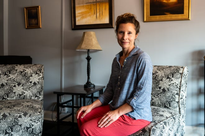 Katie VandenBerg sits for a portrait in her office in Morton on Thursday, July 1, 2021. VandenBerg is the only certified divorce coach between Chicago and St. Louis.