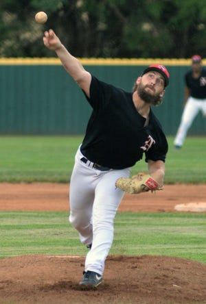 Newton Rebel pitcher Ricky Hockett struck out 11 batters in six innings in a 9-2 win over the Wichita Vipers.
