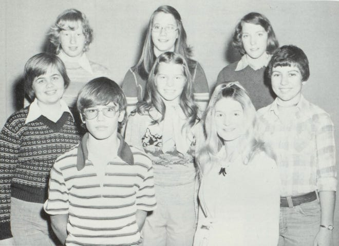 Pictures of the Past is from the 1976 Lincoln Community High School yearbook. The photo shows members of the Debate club. From left in front are: Brian Loughmiller, Officer; Sandi Zielinski, sponsor. Second row: Bonnie Freese, President; Julie Simer, Nadine Barr, Vice President. Third row: Carol Hannah, Nicki Newlon and Liz Connolly, Secretary.