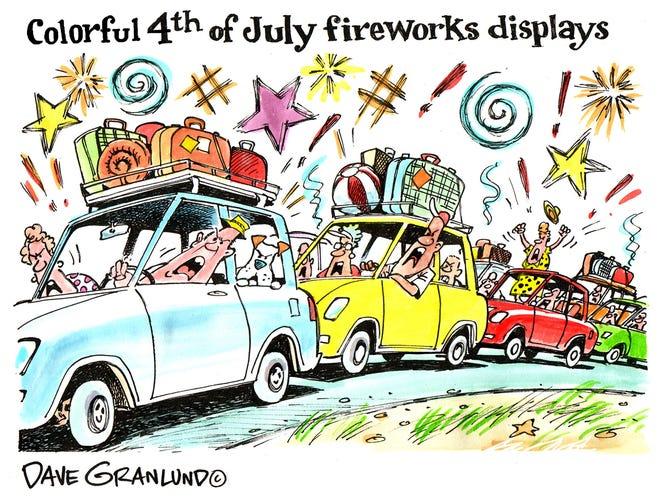 Dave Granlund cartoon July 4th travel