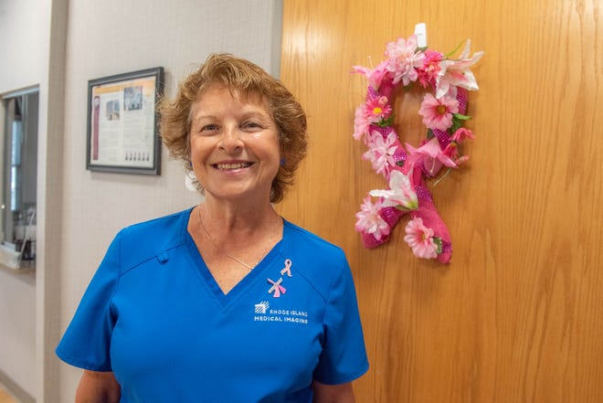 """""""There's not a day I get up and say, 'I wish I didn't have to go to work.' says X-ray technician Janice Curtis, who marked her 50th anniversary with Rhode Island Medical Imaging on Thursday."""