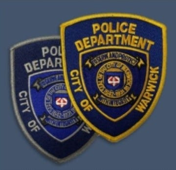 Warwick police patches.