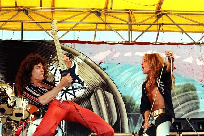 Van Halen plays California's Oakland Coliseum in 1978.