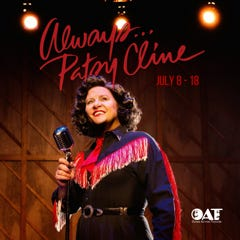 Always...Patsy Cline presented by Ozark Actors Theatre from Jul. 8-18.