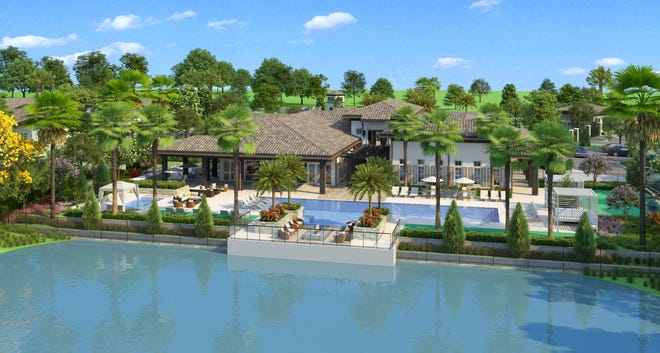 Generation at Venice, a proposed 239-home upscale rental townhouse community that will be built by Miami-based Kaplan Residential, will include a clubhouse with a community swimming pool.
