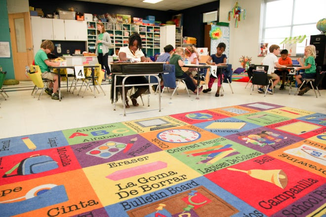 In this file photo, students and teachers complete the first year that the Spanish Immersion program has been housed at the International School at Gregory, a magnet school in downtown Wilmington, NC.
