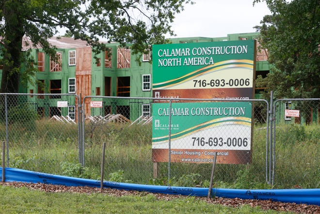 Construction of a senior-living community in Topeka's Kanza Education and Science Park is picking back up this month, according to a Calamar Construction spokesperson.