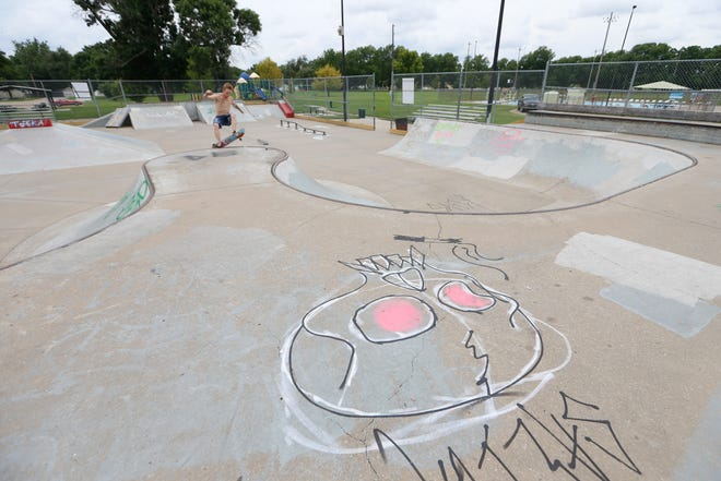 Shawnee County Parks and Recreation is asking the Shawnee County commission to issue $5 million in general obligation bonds to help meet the department's deferred maintenance needs, such as unauthorized graffiti at Oakland Billard Park's Mousetrap skatepark.