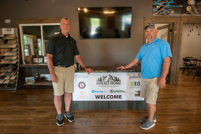 Randy Matzke, left, and Chris Schaefer created Denali Home Design, 2335 N.W. Clay St., after purchasing a storefront to house Schaefer's Skilled Saw Hardwood Flooring company and discovering other business potential.