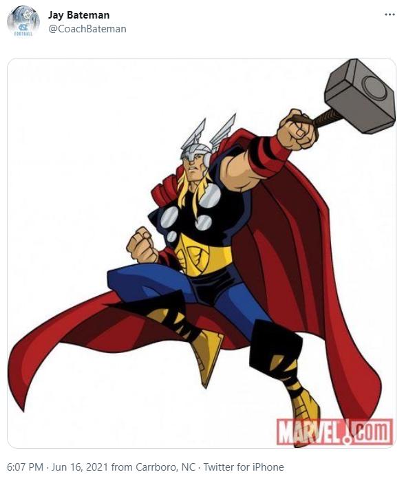 Jay Bateman Thor tweet