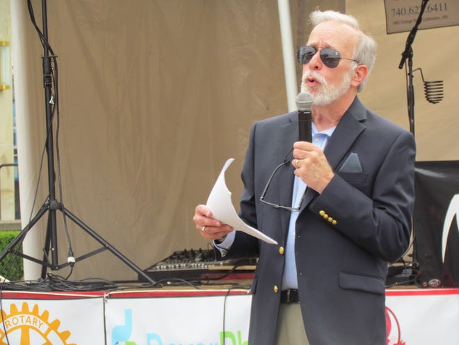Author Scott Longert spoke at the 2021 Cy Young Festival in Newcomerstown.