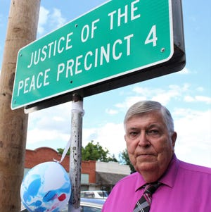 Frank Cleveland outside the office of the justice of the peace in Lawn. Cleveland has retired from service to south Taylor County. A reception was held for him Wednesday. June 30 2021