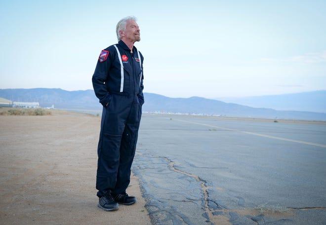 Richard Branson, Founder of Virgin Group, on the flight line in Mojave.