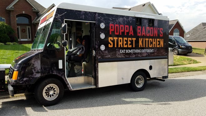 Look for the Poppa Bacon Street Kitchen Truck in the Clear Creek neighborhood on the north side of Evansville on Wednesday evening.