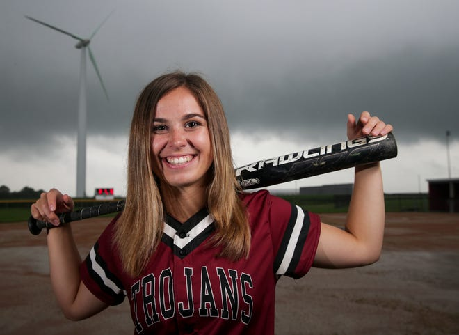 West Central's Emily Pilarski is the 2021 Journal & Courier Small School Softball Player of the Year.