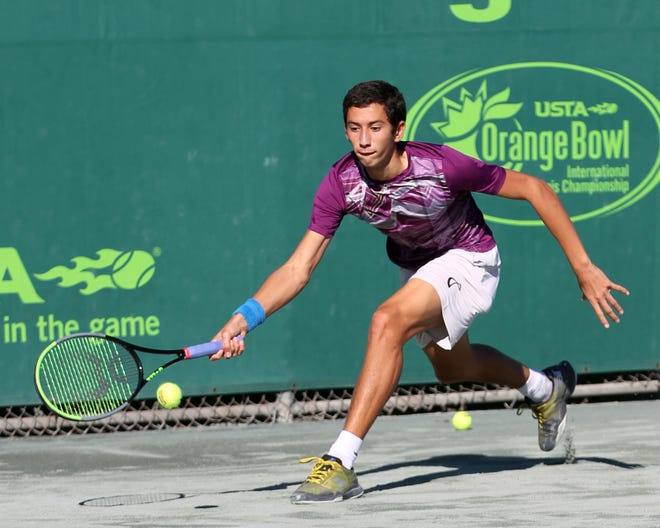 Okemos tennis player Ozan Colak is competing in the Boys Singles and Doubles tournaments at Wimbledon this month.