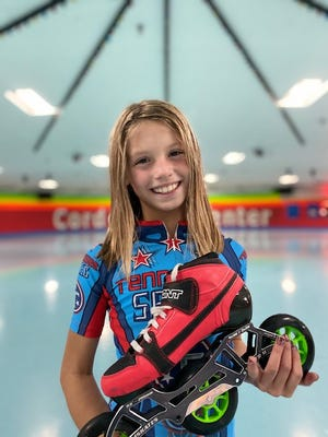 Arlington native Piper Alberson, a Donelson Elementary 5th grader, won six gold medals and broke four national records in speed skating. Alberson plans to continue competing in national competitions.