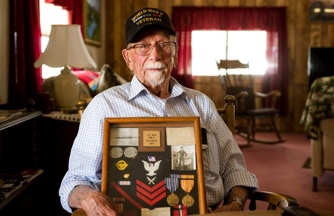 World War II veteran Jim Mack pictured just before his 100th birthday.