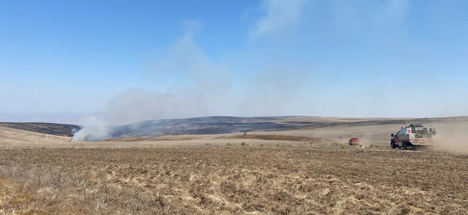 Crews continue to work to strengthen the perimeter on the Wrentham Market Fire burning in central Oregon.