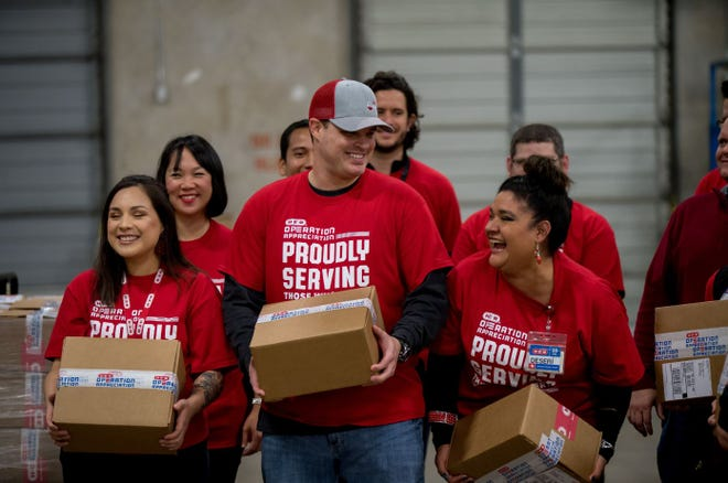 In honor of America's Independence Day, H-E-B Grocery Company will send over 500 Operation Appreciation backpack care packages to Texans serving the United States away from home.
