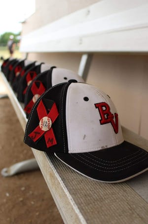 The Brandon Valley Rats amateur baseball team will be wearing hats for the rest of the season that pays tribute to one of their founders, Jacob Mulder, who died June 17 in an automobile accident.