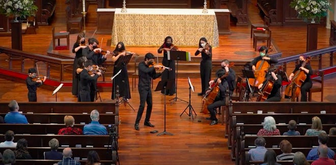 Pedro Maia is pursuing his doctorate in violin performance at Florida State University and has founded two chamber groups, including Cosmos New Music ensemble.