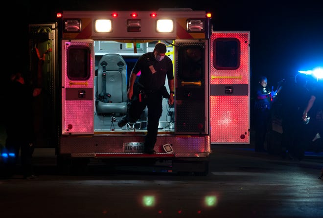 Wichita Falls emergency medics and police responded to a report of a gunshot victim June 30, 2021 on Avenue L near Taylor Street.